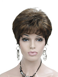 cheap -Synthetic Wig Straight Straight Layered Haircut Wig Short Brown Synthetic Hair Women's Brown StrongBeauty