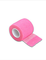 cheap -Disposable Self-adhesive Elastic Bandage Tattoo Grip Cover Rose Red Color 5*450cm