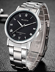 cheap -Men's Fashion Watch Quartz Silver Analog Casual - White Black
