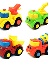 cheap -Toy Car Dollhouse Accessory Construction Truck Set Pull Back Vehicles Plane / Aircraft Plastics Kid's Toy Gift