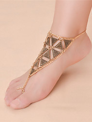 cheap -Women's Barefoot Sandals Geometrical Infinity Ladies Vintage Fashion Anklet Jewelry Gold / Silver For Daily Casual