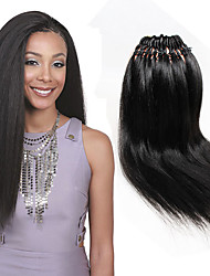 cheap -Crochet Yaki Straight Pre-loop Crochet Braids Hair Accessory Human Hair Extensions Kanekalon Braids 18 inch Long Braiding Hair 26 Roots/pack