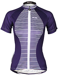 cheap -ILPALADINO Women's Short Sleeve Cycling Jersey Polyester Bike Jersey Top Mountain Bike MTB Road Bike Cycling Quick Dry Ultraviolet Resistant Reflective Strips Sports Clothing Apparel / Stretchy