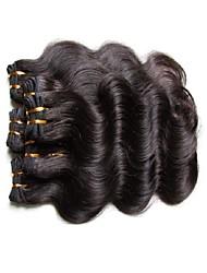Недорогие -6 Связок Бразильские волосы Естественные кудри Натуральные волосы 300 g Человека ткет Волосы Ткет человеческих волос Расширения человеческих волос / 8A