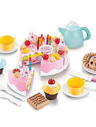 cheap -Toy Food / Play Food Cake Cake & Cookie Cutters Plastics Kid's Girls' Toy Gift 54 pcs