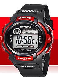 Недорогие -Муж. Модные часы Наручные часы Цифровой силиконовый Черный Повседневные часы Cool Цифровой Оранжевый Красный Синий