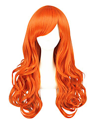 cheap -Synthetic Wig Cosplay Wig Curly Curly Wig Blonde Medium Length Orange Synthetic Hair Women's Blonde