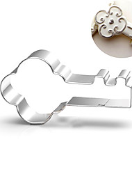 cheap -Valentine's Love Key Shape Cookie Cutters Fruit Cut Molds Stainless Steel