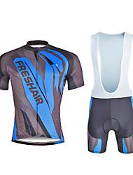 abordables -ILPALADINO Homme Manches Courtes Maillot et Cuissard à Bretelles de Cyclisme - Noir Vélo Ensemble de Vêtements, La peau 3 densités,