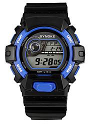 Недорогие -Муж. Модные часы электронные часы Цифровой силиконовый Черный Цифровой Красный Зеленый Синий