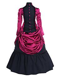 cheap -Rococo Victorian 18th Century Dress Party Costume Masquerade Women's Satin Cotton Costume Fuchsia Vintage Cosplay Party Prom Long Sleeve Lolita / Petticoat