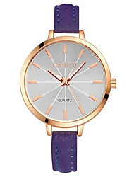 cheap -Women's Wrist watch Fashion Watch Quartz Casual Watch PU Band Elegant Black Blue Purple