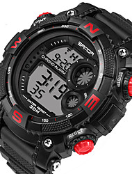cheap -Men's Sport Watch Smartwatch Wrist Watch Digital 30 m Calendar / date / day LED Fitness Trackers Silicone Band Digital Casual Fashion Black - Silver Red Blue / Stainless Steel / Stopwatch