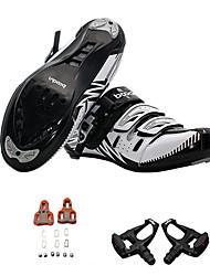cheap -BOODUN Men's Cycling Shoes With Pedals & Cleats Nylon, Fiberglass, Air-flow vents, Non-Slip tread Cycling / Bike Cycling PU(Polyurethane) Black Red Dark Green