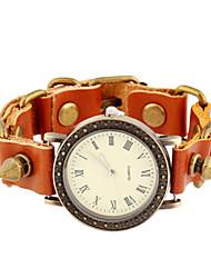 cheap -Women's Fashion Watch Digital Leather Brown Analog Brown