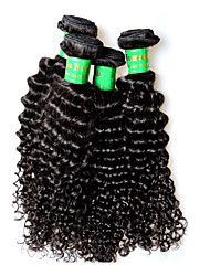 cheap -400g 4bundles indian kinky curly virgin hair deal 8a grade indian remy human hair extensions weaves full end 100g pcs natural black color