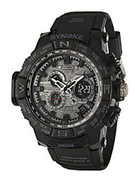 Недорогие -Муж. Модные часы электронные часы Цифровой силиконовый Черный Аналого-цифровые Черный Зеленый Синий