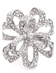 cheap -Women's Girls' Brooches Crossover Rhinestone Brooch Jewelry Gold Silver For Wedding Party Special Occasion Casual