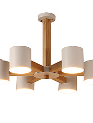 cheap -LightMyself™ 6-Light Candle-style Chandelier Downlight Wood Wood / Bamboo LED 220-240V / 100-120V Bulb Not Included / E26 / E27