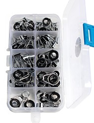 cheap -45 pcs Fishing Tackle Box Fishing Rod Guides Fishing Snaps & Swivels Stainless Steel / Iron Lightweight Jigging Sea Fishing Fly Fishing Bait Casting Fishing Apparel & Accessories Fishing Removal