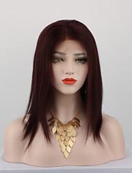 Недорогие -человеческие волосы Remy Полностью ленточные Парик стиль Бразильские волосы Прямой Парик 130% Плотность волос с детскими волосами Природные волосы Парик в афро-американском стиле 100% ручная работа