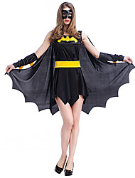 cheap -Super Heroes Bat Cosplay Costume Women's Christmas Halloween Carnival Festival / Holiday Spandex Terylene Women's Carnival Costumes Solid Color / Gloves