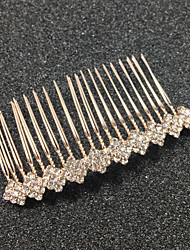 cheap -Tulle Hair Combs with Feather 1 Event / Party Headpiece