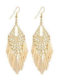 cheap -Women's Drop Earrings Pendant Ladies Dangling Tassel Vintage Bohemian Simple Style Silver Plated Gold Plated Earrings Jewelry Gold / Silver For Christmas Gifts Wedding Party Special Occasion