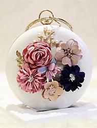cheap -Women's Flower PVC Shoulder Messenger Bag Solid Colored White / Pale Pink