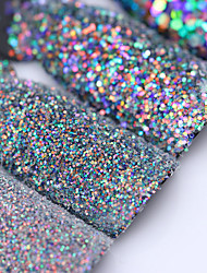 cheap -colorful shining nail glitter sequins 3g hexagon flakies powder dust 0 15mm 1mm manicure nail art decoration
