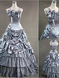 cheap -Gothic Lolita Dress Women's Girls' Japanese Cosplay Costumes Silver Vintage Cap Sleeve Floor Length