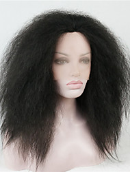 cheap -Synthetic Lace Front Wig Straight kinky Straight kinky straight Straight Lace Front Wig Medium Length Black#1B Synthetic Hair Women's Black Brown StrongBeauty