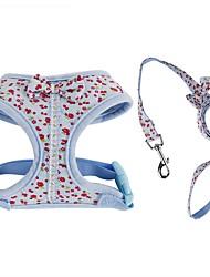 Недорогие -Кошка Собака Ремни Поводки Регулируется Компактность Дышащий Складной Безопасность Цветы Английский Бант Ткань Сетка Хлопок Розовый Синий