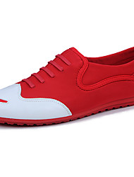 cheap -Men's Moccasin Fabric Summer Oxfords Walking Shoes Black / Red / Lace-up / Outdoor / EU40