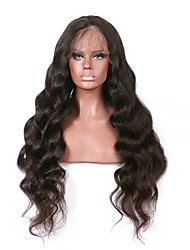 cheap -Remy Human Hair Unprocessed Human Hair Glueless Lace Front Lace Front Wig style Brazilian Hair Body Wave Wig 130% Density with Baby Hair Natural Hairline African American Wig 100% Hand Tied Women's