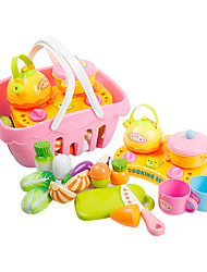 cheap -Toy Kitchen Set Toy Dishes & Tea Sets Toy Food / Play Food Food Fruit lifelike Child Safe Simulation Plastics Plastic Kid's Toy Gift