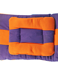 cheap -Warm / Double-Sided / Soft Dog Clothes Bed Color Block Orange / Purple Dog