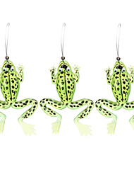 cheap -3 pcs Fishing Lures Frog Floating Bass Trout Pike Bait Casting Plastics