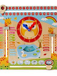 Недорогие -Образовательные игры с карточками Деревянные часы Квадратный Образование Мальчики Игрушки Подарок