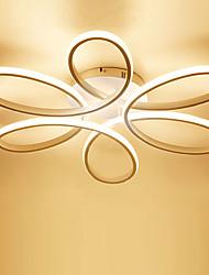 abordables -Linéaire Plafonniers Lumière d'ambiance Finitions Peintes Métal Le Gel de Silice LED 110-120V / 220-240V Blanc Crème / Blanc / Dimmable avec télécommande