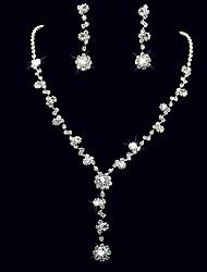 cheap -Women's Jewelry Set Drop Rhinestone Earrings Jewelry White For Wedding Party Anniversary Birthday