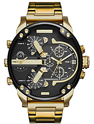 cheap -Men's Sport Watch Military Watch Wrist Watch Quartz Black / Brown / Purple Calendar / date / day Creative Dual Time Zones Analog Luxury Vintage Casual Bangle Fashion - Gold / Black Black / White Rose
