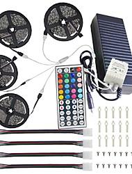 cheap -LED Strip Light Led Light Strip Kit not-Waterproof 20M(4x5M) 5050 RGB 600 LEDs 10mm Strip Lights with 44Key IR Remote Controller Kit and 12V 10A EU US AU UK Power Supply with A set Mounting Bracket