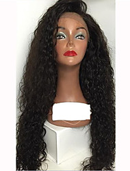 cheap -Human Hair Glueless Lace Front / Lace Front Wig Water Wave Wig 150% Natural Hairline / African American Wig / 100% Hand Tied Women's Medium Length / Long Human Hair Lace Wig