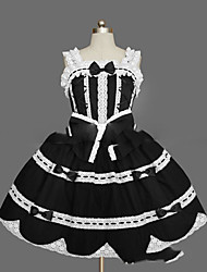 cheap -Princess Gothic Lolita Dress JSK / Jumper Skirt Women's Girls' Cotton Japanese Cosplay Costumes Plus Size Customized Black Ball Gown Vintage Cap Sleeve Sleeveless Short / Mini