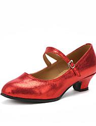 cheap -Women's Dance Shoes Modern Shoes/Character Shoes Heel Customized Heel Customizable Black / Silver / Red / Indoor / EU42