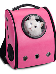 cheap -Cat Dog Carrier & Travel Backpack Astronaut Capsule Carrier Pet Carrier Portable Breathable Solid Colored Coffee Rose Pink
