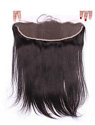 Недорогие -7a шелковый прямой бразильский человеческий 13x2 шелк полный кружевной лобовое ушко для уха