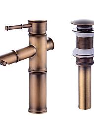 cheap -Contemporary Centerset Ceramic Valve One Hole Faucet Set Bath Taps