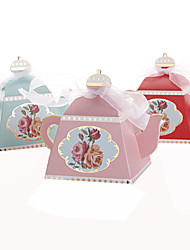 cheap -Card Paper Favor Holder with Ribbons Favor Boxes - 25
